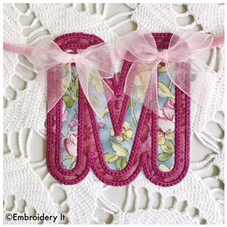 two layer applique alphabet