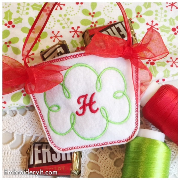 In the hoop candy holder basket machine embroidery design