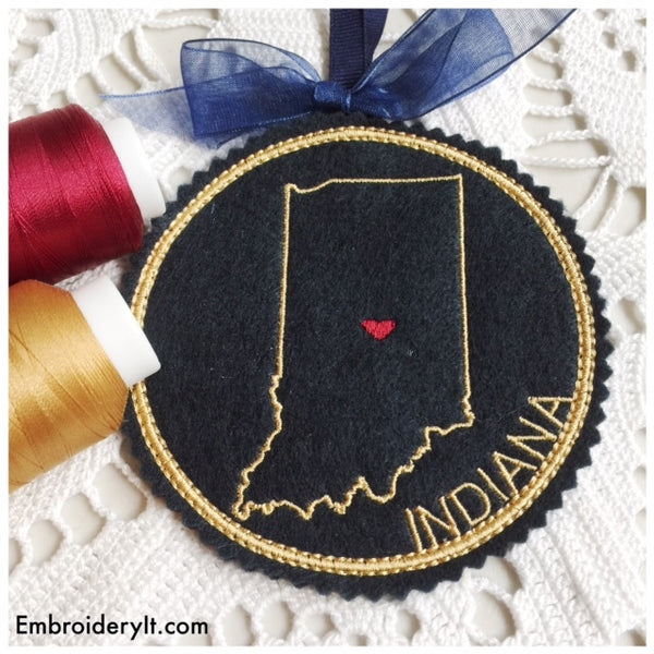Machine embroidery Indiana ornament