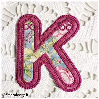 ith applique alphabet for embroidery machine