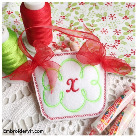 machine embroidery monogram basket pattern