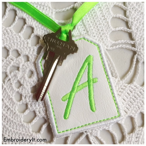 machine embroidery design in the hoop tag