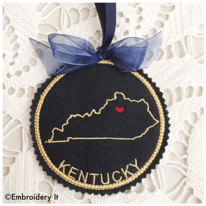 I heart Kentucky embroidery design