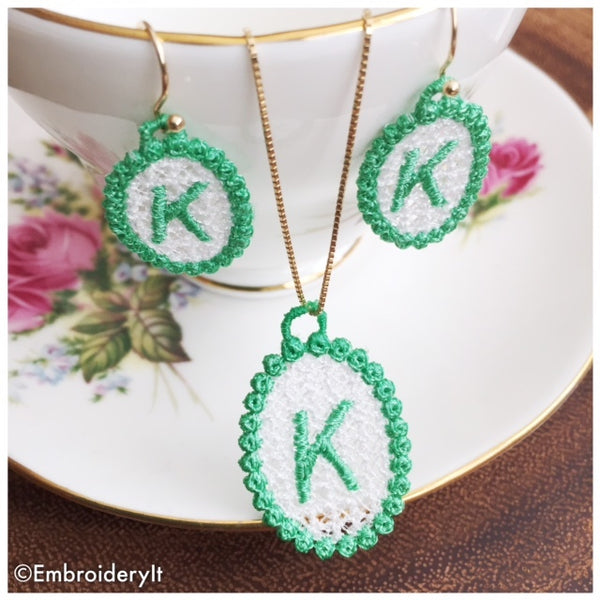 Machine Embroidery Monogram Free Standing Lace Jewelry Designs