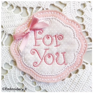 happy birthday in the hoop machine embroidery pattern applique tag