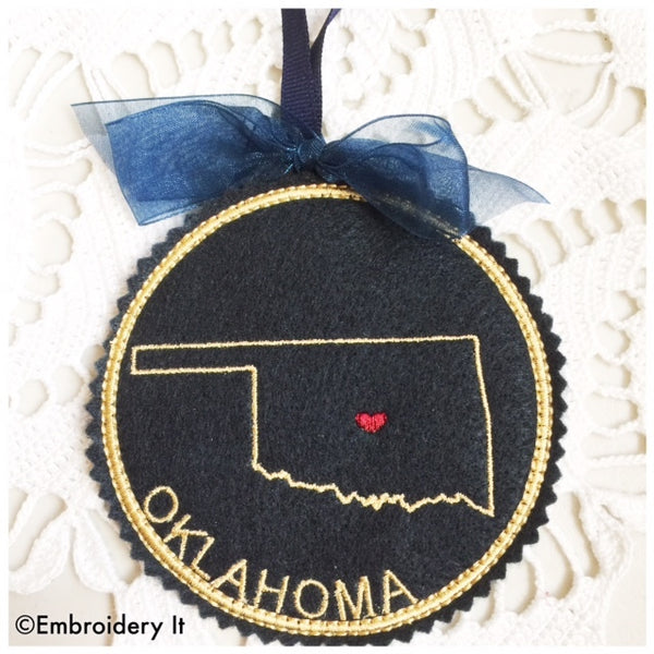 in the hoop Oklahoma design