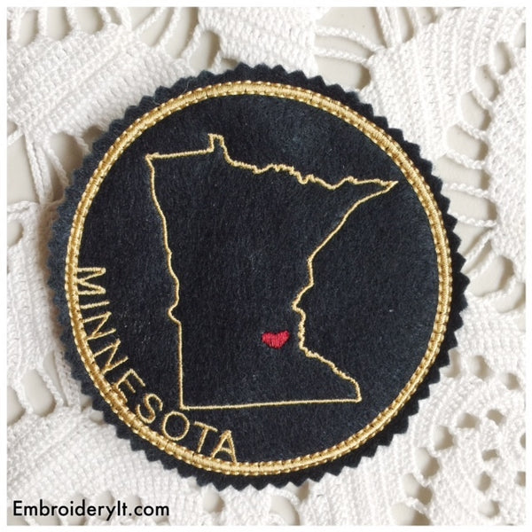 In the hoop Minnesota coaster