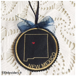 Machine embroidery new Mexico design