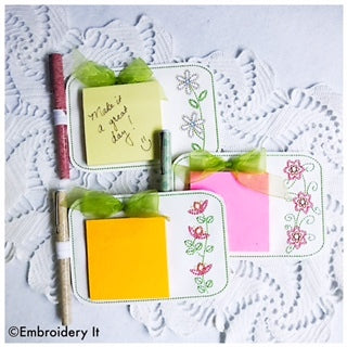 Machine Embroidery Notepad Holder