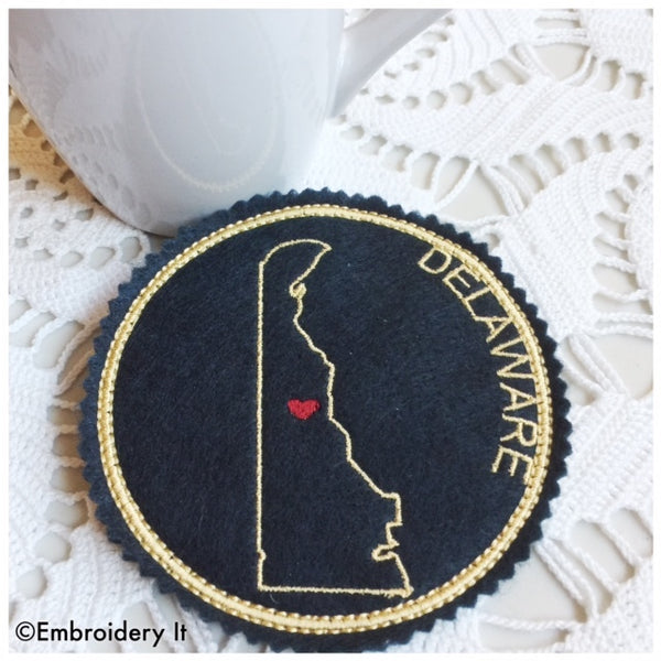 Machine embroidery Delaware ornament