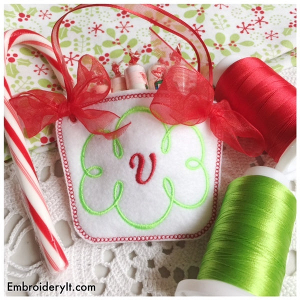 candy holder basket machine embroidery in the hoop design