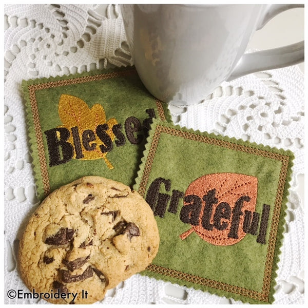 inspirational lollipop holders and coasters in the hoop machine embroidery designs