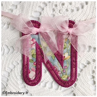 machine embroidery banner alphabet