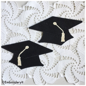 Machine Embroidery Graduation Cap