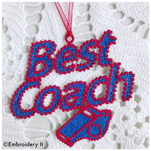 Machine embroidery Best Coach Free standing lace design