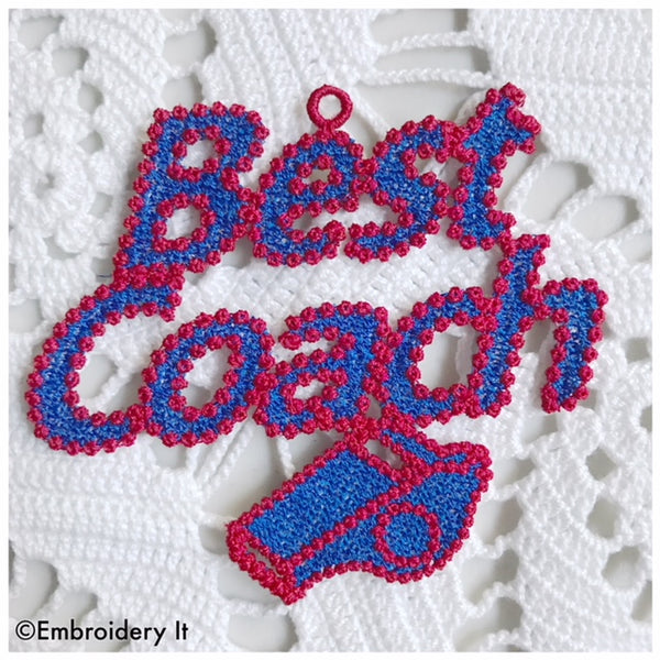 Best Coach free standing lace gift tag embroidery design