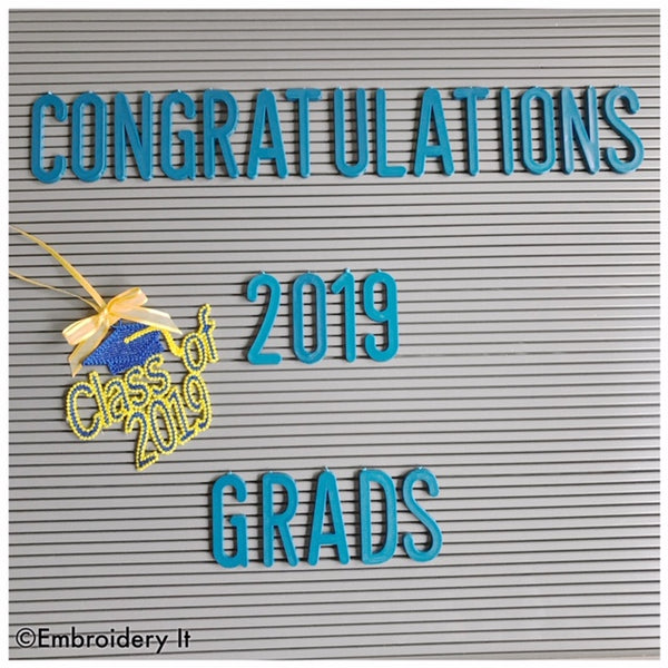 FSL Graduation 2019 machine embroidery design