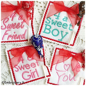 Valentine's day lollipop holders machine embroidery designs