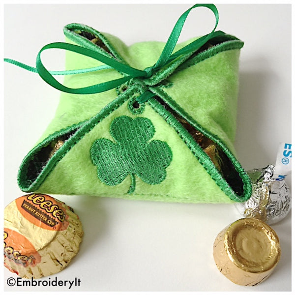 Shamrock in the hoop gift box
