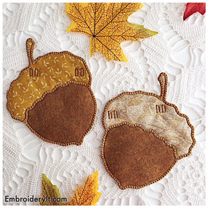 In the hoop banner acorn machine embroidery designs