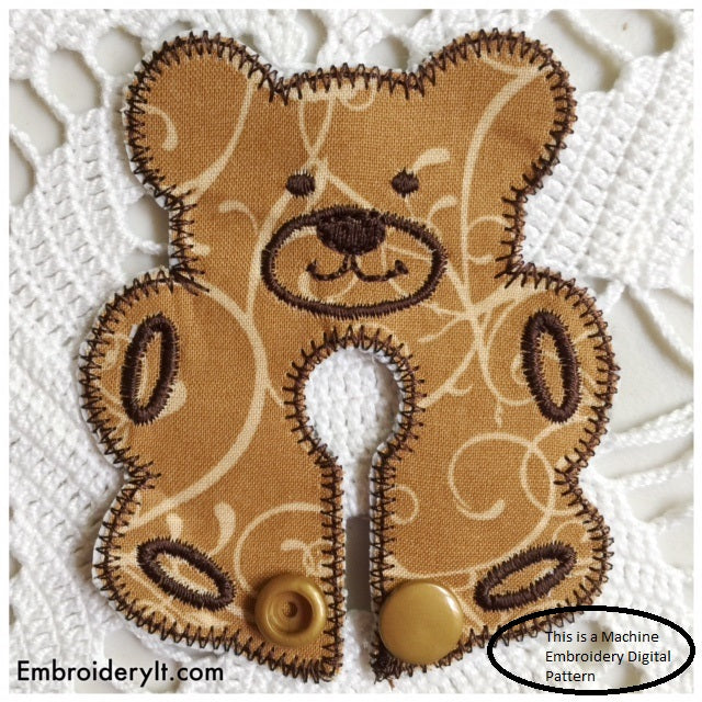 Bear Machine embroidery feeding tube pad