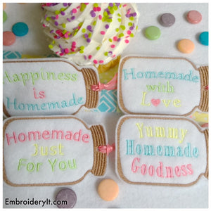 Mason Jar Tags set of 4