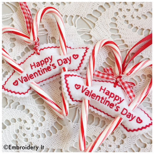 Valentine's Day in the hoop machine embroidery design
