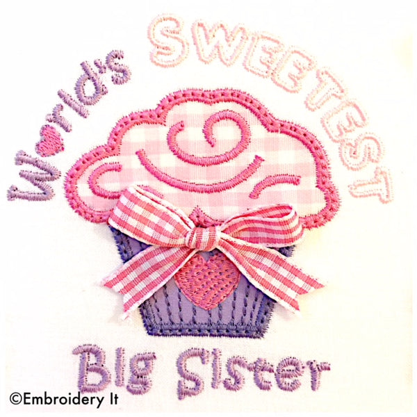 big sister machine embroidery applique pattern