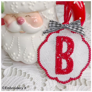 FSL applique ornament letter B