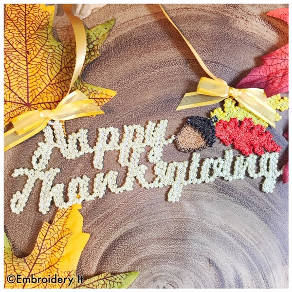 Happy Thanksgiving Freestanding lace home decor