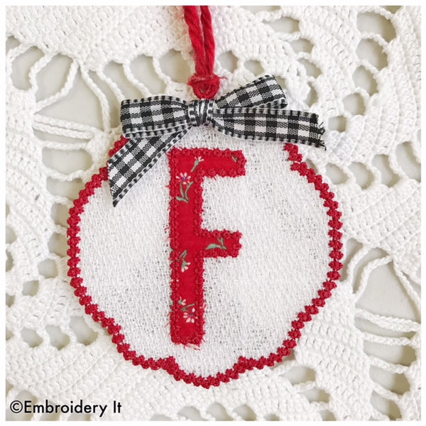 machine embroidery freestanding lace alphabet