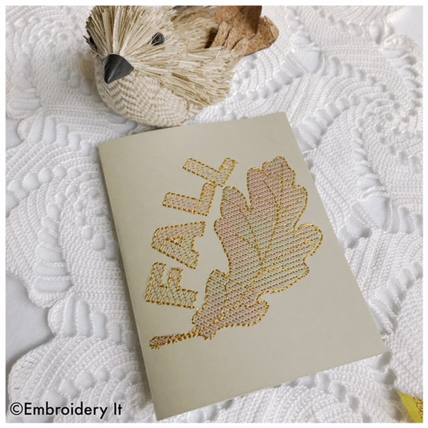Embroidery greeting card with mylar