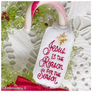 Jesus is the reason in the hoop machine embroidery candy holder design