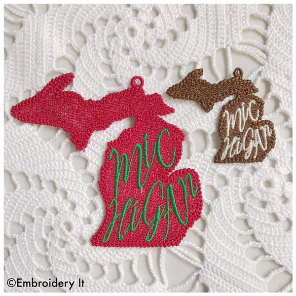 FSL Michigan ornament and tag
