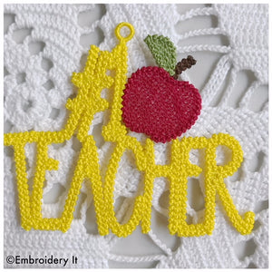 machine embroidery free standing lace teacher design