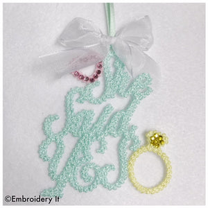 Wedding freestanding lace machine embroidery design