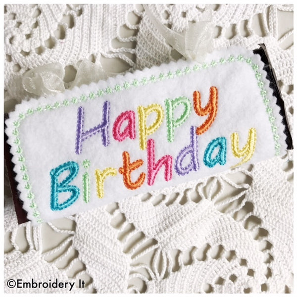 Machine Embroidery Candy Wrapper