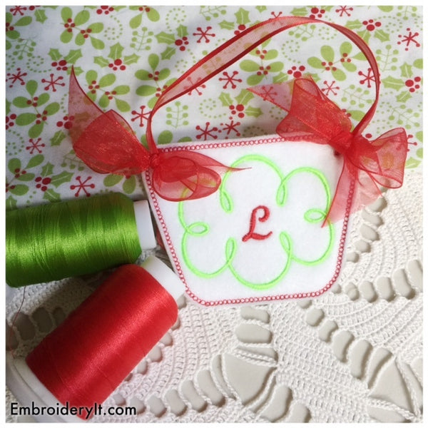 monogram basket machine embroidery pattern ith