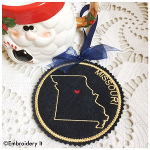 I heart Missouri machine embroidery design