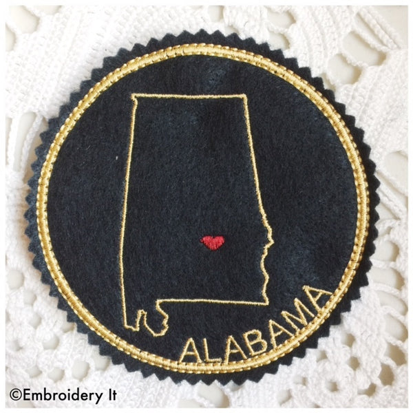 Alabama Christmas ornament