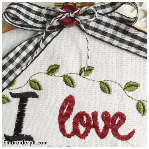machine embroidery love you more than pumpkin flavored anything