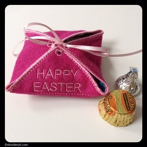 Easter in the hoop treat box machine embroidery design