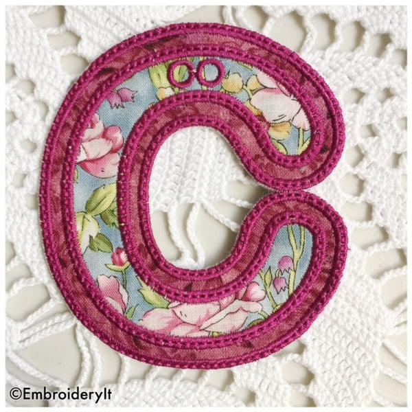 machine embroidery applique alphabet bunting file