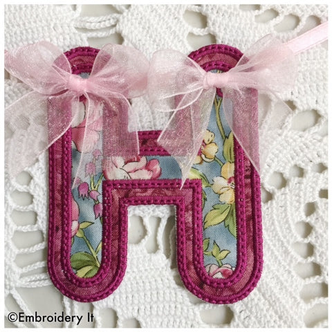 Machine embroidery monogram  in the hoop project