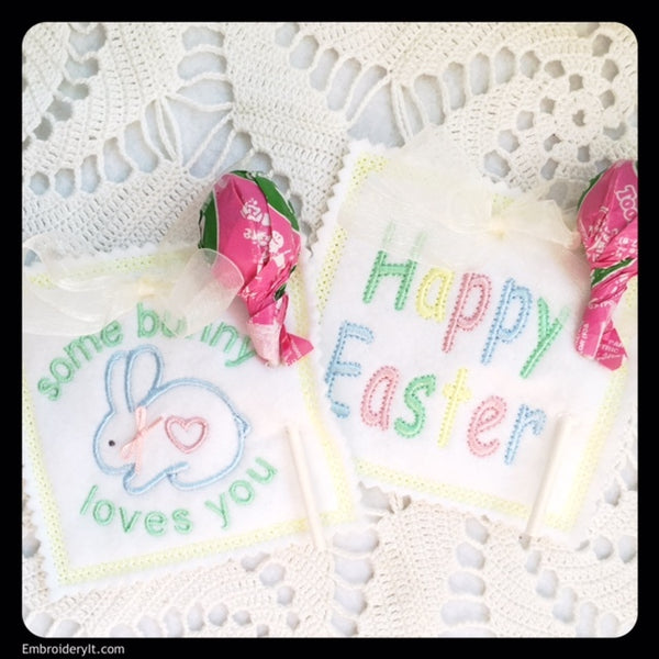 Easter candy holders in the hoop machine embroidery design