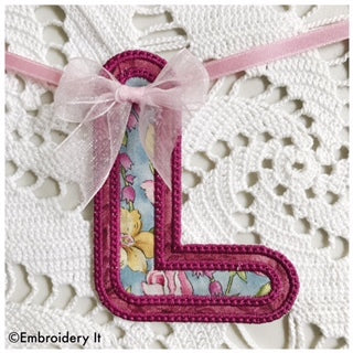 Machine embroidery letter L digital design