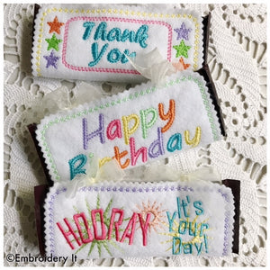 Machine Embroidery Candy Holder