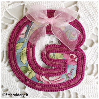 in the hoop machine embroidery banner alphabet