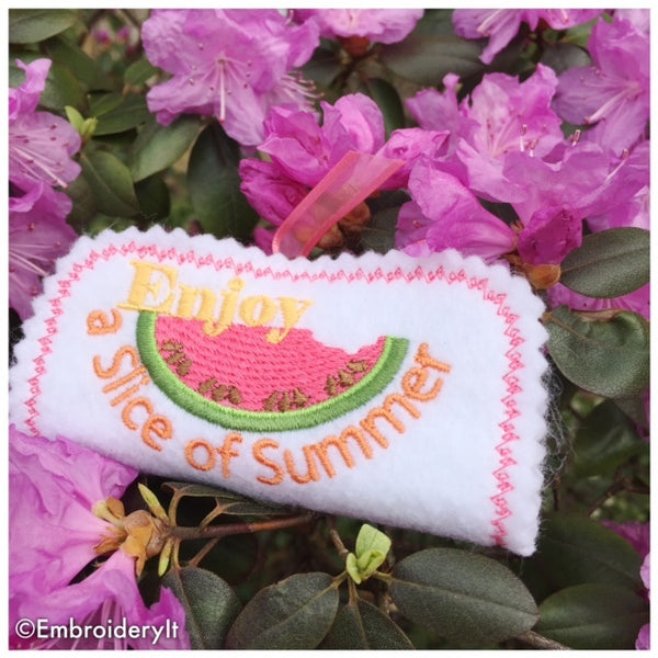 summertime machine embroidery in the hoop candy wrapper set