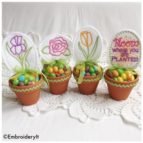 Bloom Candy Topper Set of 4 Designs